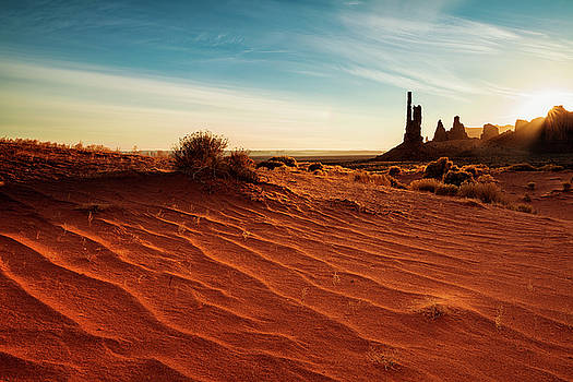 Morning Rays over Monument Valley by Andrew Soundarajan