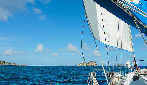 Morning Sail II St. John by Julia Rigler