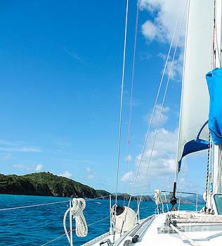 Morning Sail III St. John by Julia Rigler