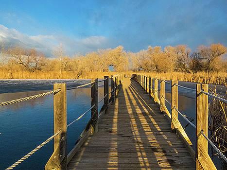 Morning Stroll on the Boardwalk by Kelly Kennon