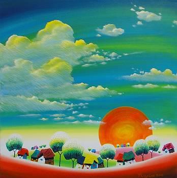 Morning sun by Tang hong Lee