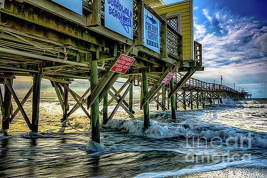 Morning Sun Under the Pier by David Smith