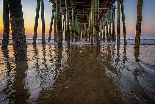 Morning Under the Pier, Old Orchard Beach by Rick Berk