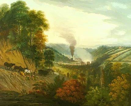 Williams William - Morning View Of Coalbrookdale Shropshire 1777