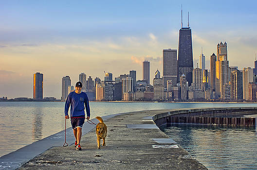 Nikolyn McDonald - Morning Walk 2 - North Avenue Beach - Pier - Chicago