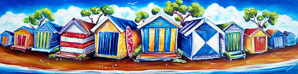 Mornington Beach Huts by Deb Broughton