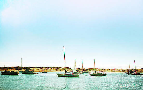 Moro Bay Inlet with Sailboats Mooring in Summer by Artist and Photographer Laura Wrede
