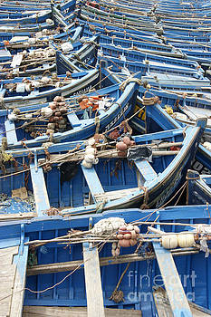 Moroccan Blue Boats by David Birchall