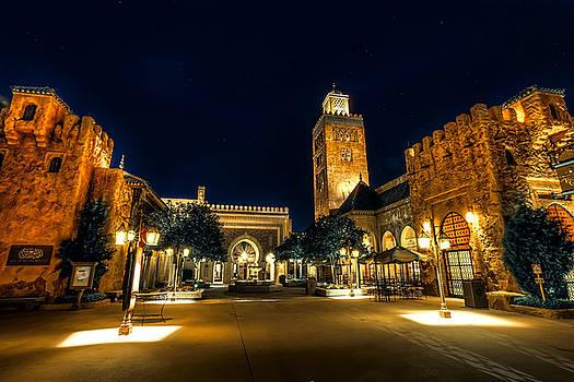 Morocco Pavilion, Epcot, Walt Disney World, Lake Buena Vista, Florida by James Wellman
