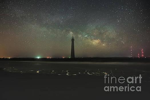 Morris Island Light House Milky Way by Robert Loe