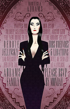 Morticia Addams Bridal Shower Invite by Christopher Ables