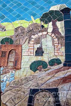 Mosaic Art at Petra by Mae Wertz