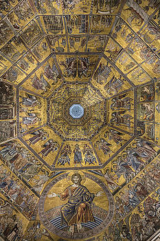 Mosaic ceiling of Florence Baptistry in Italy by Ayhan Altun