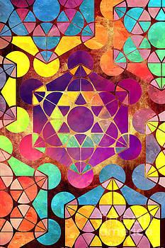 Justyna Jaszke JBJart - Mosaic colored geometric art