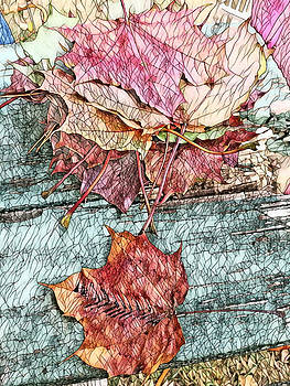 Mosaic Colorful Maple Leaves of Michigan by Ayasha Loya