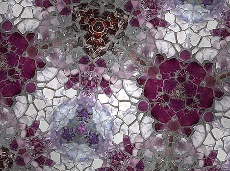 Mosaic in Violets by Sylvan Adams