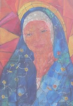 Mosaic madonna by Neena Alapatt