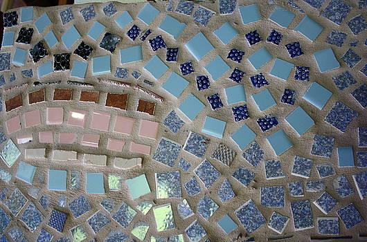 Anne Babineau - mosaic sunset sky swirl