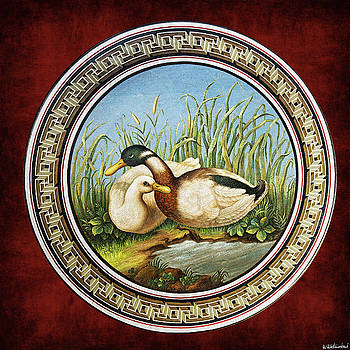 Weston Westmoreland - Mosaic table with ducks - Vatican