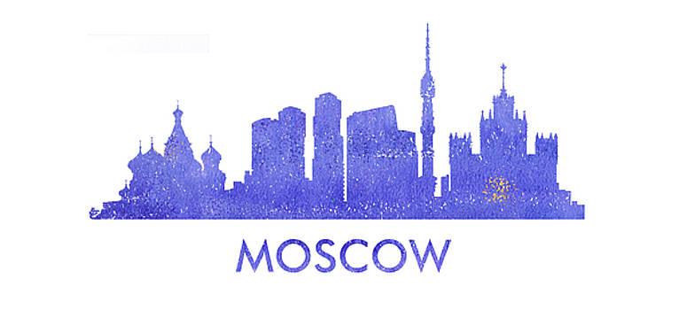 Vyacheslav Isaev - Moscow  city purple skyline