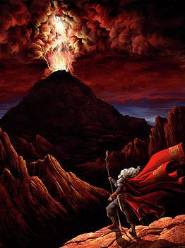 Moses ascends Sinai by Matt Ebisch