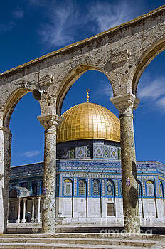 Compuinfoto  - mosk with the copper roof in jerusalem, israel