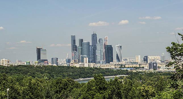 Moskow skyline by Atul Daimari