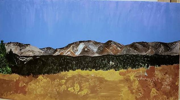 Mosquito Range Leadville CO. For a great friend by Escudra Art