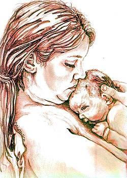 Mother and Child 1 by Carol Allen Anfinsen