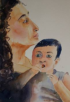 Mother and child by Geeta Biswas