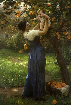 Virginie Demont-Breton - Mother and child in an orange grove
