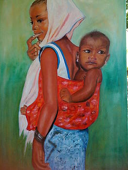 Mother and child by Nives Trauber