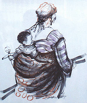 Mother and Child by Opoku Acheampong