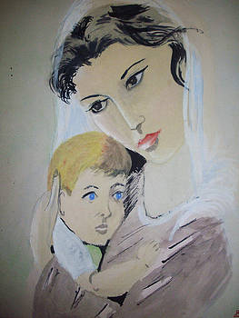 Mother And Child by Rajendra Parekh