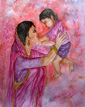 Mother and Child by Shashikanta Parida