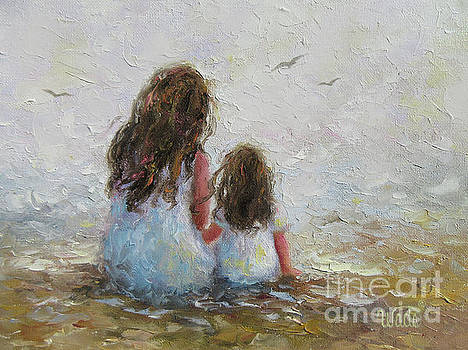Mother and Daughter Chat by Vickie Wade