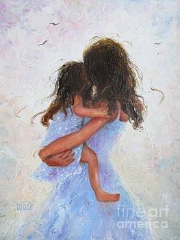 Mother and Daughter Hugs Brunettes by Vickie Wade