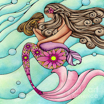 Mother and Daughter Mermaid by Holly Kitaura