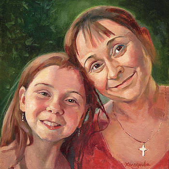 Mother and Daughter by Tatyana Holodnova