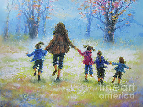 Mother and Four Daughters by Vickie Wade