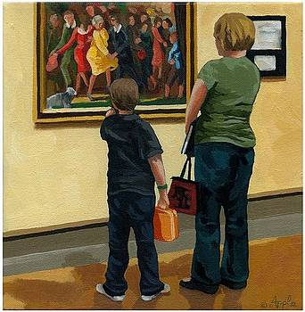 Mother and Son at Art Museum by Linda Apple