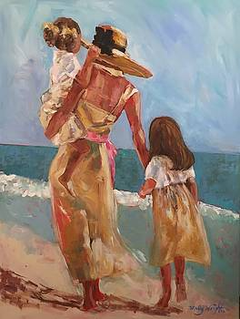 Mother and Two Daughters 2 by Molly Wright