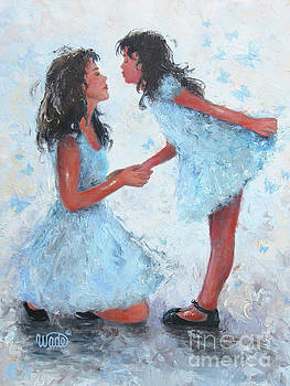 Mother Daughter Butterfly Kisses by Vickie Wade