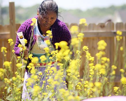 Binod - Mother in Garden