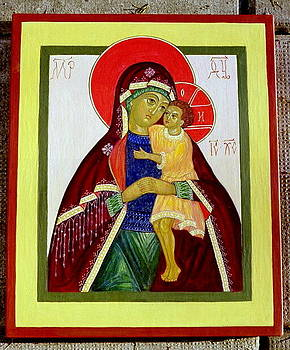 Mother of God with baby Jesus by Tania Kant Krosse
