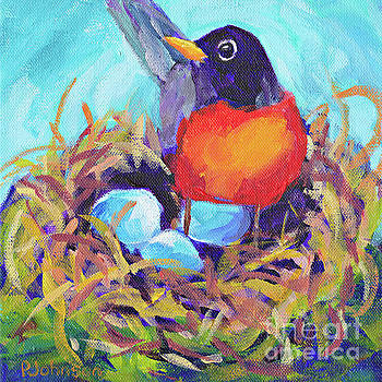 Mother Robin by Peggy Johnson by Peggy Johnson