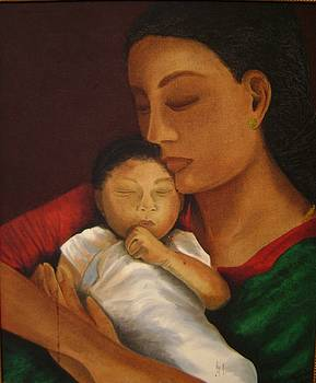 Mother with Child by Padmakar Kappagantula