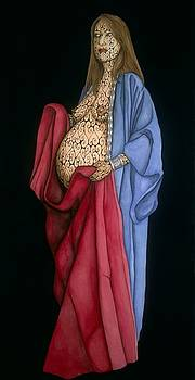 Mother with Child by Tina Blondell