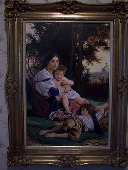 Mother with children by Robert E Gebler