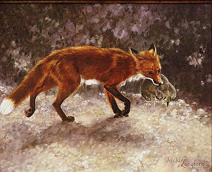 Mother With Supper For The Kits by Jackie Langford